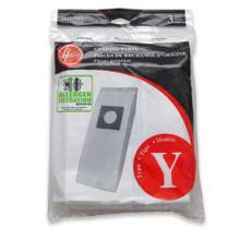 3 Hoover 4010100Y Type Y vacuum bags allergen filtration for