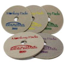 Monkey Diamond Floor Pads 17 inch 5 pad combo for polishing