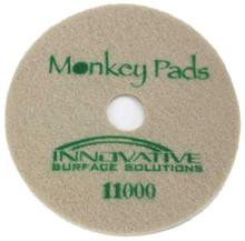 Monkey Diamond Floor Pads 17 inch 11000 grit green for polis
