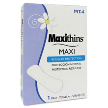 Coin Op Maxi Pads Maxithins Pads case of HOSMT4