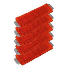 Unger MM40R SmartColor red antibacterial microfiber mops hea