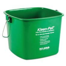 Kleen-Pail, 6qt, Plastic, Green, 12/Carton
