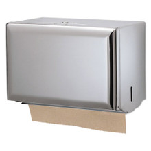 Singlefold Paper Towel Dispenser, Chrome, 10 3/4 x 6 x 7 1/2