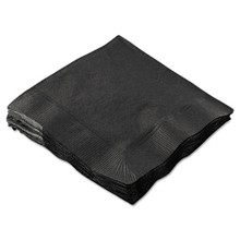 Beverage Napkins, 2-Ply, 9 1/2 x 9 1/2, Black, 1000/Carton