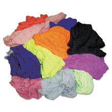 Polo T-Shirt Rags, Assorted Colors, 10 Pounds/Bag