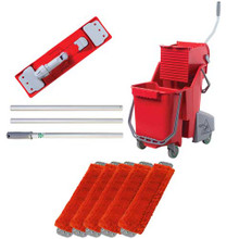 Unger combrkit microfiber red mopping kit includes bucket wr