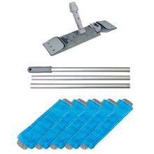 Unger UMFBLUKIT microfiber blue mop kit