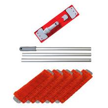 Unger UMFREDKIT microfiber red mop kit