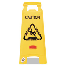 Rubbermaid 6112YEL floor sign CAUTION 25 RCP611200YW