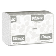 Kleenex KCC01890 paper hand towels multifold 1 ply white cas