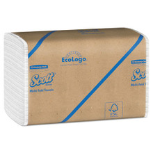 Scott KCC01804 paper hand towels multifold white case of 400
