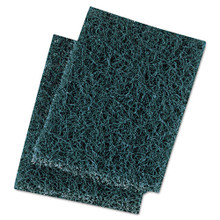 Boardwalk BWK188 Scour Pad Extra Heavy Duty 3.5x5 green