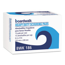 Boardwalk BWK186 Scour Pad Heavy Duty 6x9 green case of