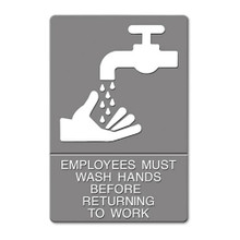 ADA Sign EMPLOYEES MUST WASH HANDS USS4726