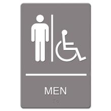 ADA Restroom Sign MEN ACCESSIBLE USS4815