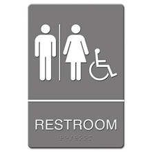 ADA Sign RESTROOM ACCESSIBLE USS4811