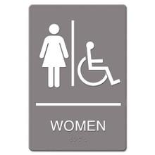 ADA Restroom Sign WOMEN ACCESSIBLE USS4814