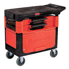 Rubbermaid 618088BLA trades cart with lo RCP618088BLA