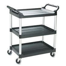 Rubbermaid 342488BLA utility cart 3 shel RCP342488BLA