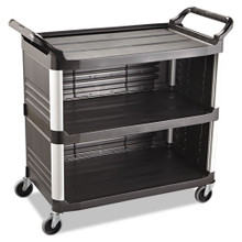 Rubbermaid 4093BLA utility cart 3 sides RCP4093BLA