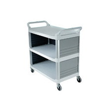 Rubbermaid 4093CRE utility cart 3 sides RCP4093CRE