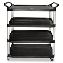 Rubbermaid 4096BLA utility cart 4 shelf RCP409600BLA