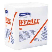 Wypall KCC41026 X80 shoppro qtr fold wiper 12.5x14.4 wh