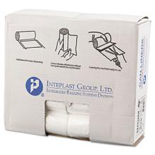 Ibs ibss243306n 15 gallon trash bags case of 1000 clear 24x33 high density 6 mic regular strength premium coreless rolls