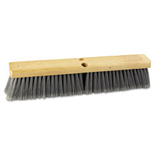 Boardwalk BWK20418 push broom 18 inch hardwood block f