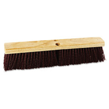 Boardwalk BWK20318 push broom 18 inch hardwood block s