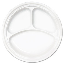 Impact Plastic Dinnerware 10.25 inch Pla DCC10CPWF