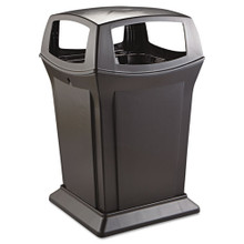 Rubbermaid 917388BLA Ranger trash cans 4 RCP917388BLA