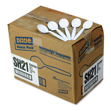 Heavyweight Plastic Soup Spoon Full size DXESH217