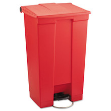 Rubbermaid 6146RED step on trash can 23 RCP6146RED