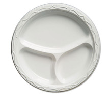 Plastic Plates Three Compartment 10 inch GNP71300