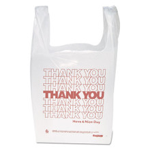 Thank You Designed Poly Bags White With IBSTHW1VAL
