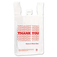 Thank You Designed Poly Bags White With IBSTHW2VAL