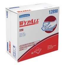 Wypall KCC12890 wipes X90 all purpose white pop up box