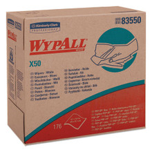 Wypall KCC83550 wipes X50 all purpose white pop up box