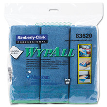 Microfiber Cleaning Cloths Blue General KCC83620CT