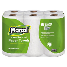 Marcal MRC6181PK 100 percent recycled roll towels