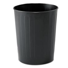 Safco SAF9604BL round wastebasket steel