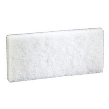 Boardwalk BWK401 White Utility Pad 4x10 case of 20 repl