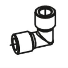 Betco E8155100 elbow for Vispa 35B or Genie floor scrubber