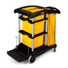 Rubbermaid 9T73 microfiber janitor cart RCP9T73