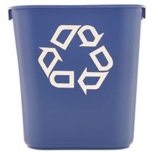Rubbermaid 295573BLU deskside recycling RCP295573BE