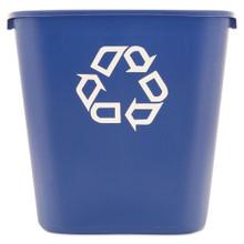Rubbermaid 295673BLU deskside recycling RCP295673BE