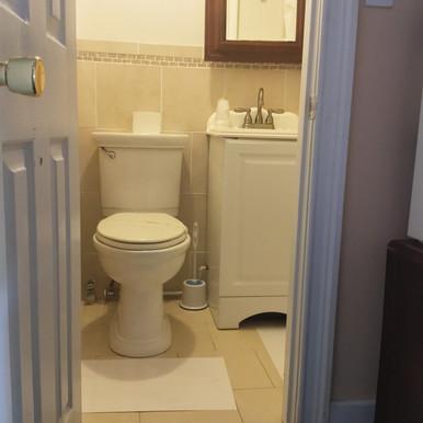 modern bathroom and walk in shower