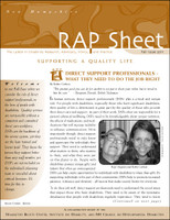 NH RAP Sheet Fall 2011: Supporting a Quality Life