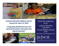Integrating Related Services into General Education Instruction and Typical Activities